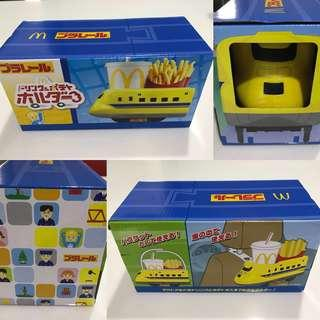 Japan exclusive McD Shinkansen drink and french fries holder