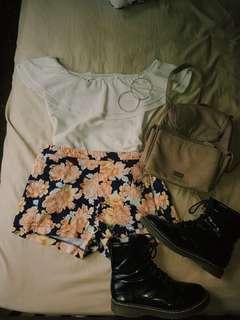 Flowery festvial shorts