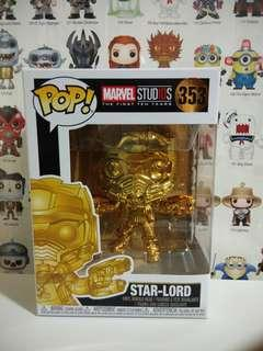 🚚 Funko Pop Gold Chrome Star Lord Exclusive Vinyl Figure Collectible Toy Gift Movie Comic Super Hero Marvel Avengers Guardians Of The Galaxy GOTG