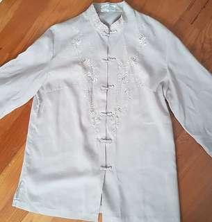 Traditional costume qi pao collared top
