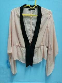 Nichii chiffon jacket in peach