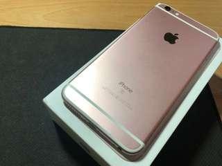 🚚 iphone6S 枚瑰金128Plus.. 全機包膜工能正常。有盒。喜歡歡迎來電0976903953