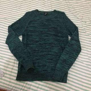 h&m green pullover