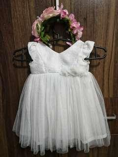 Crib Couture Baptismal Dress Used Once.