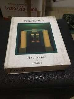 Principles of Economics by Henderson and Poole