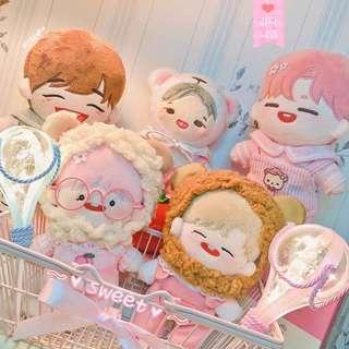 [20CM] Doll Rilakkuma & Ryan Overall Set