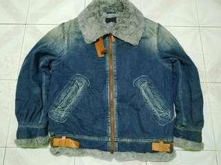 Avirex denim winter jacket M