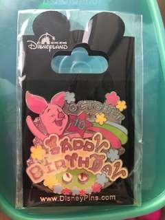 Happy Birthday Piglet Disney Pin