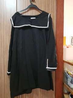 Plus size sailor themed dress