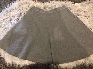 Uniqlo Grey A-line Skirt