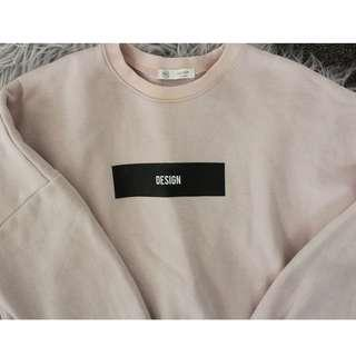 Baby Pink Sweater with Lettering