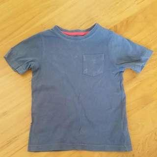 🚚 Mothercare Seasoned Blue T-shirt