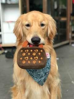 BN Dogit Luvz Dog Toys, Brown Bag Hearts Print