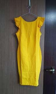 Fashion Nova Beautiful Outlook Ruffle Dress