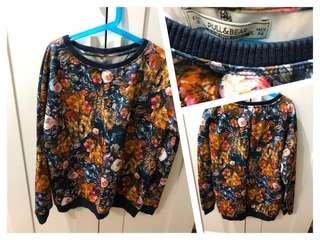 (Used)Pull & Bear overall floral print top 印花長袖上衣