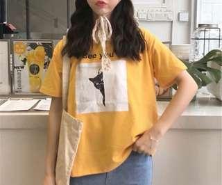 黃色貓咪t恤