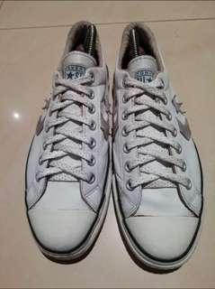Original Re-Issue UK9 White Leather Converse
