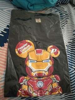 Marvel Ironman black tee L size
