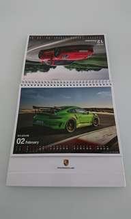 (包送貨)Porsche保時捷座枱月曆Calendar