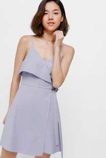 Love Bonito Bess Crossover Tie Side Dress