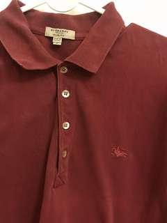 Burberry 酒紅襯衫L
