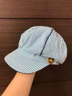 🚚 海軍風活潑條文金釦報童帽