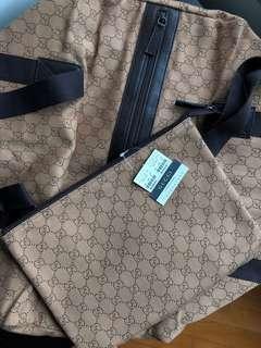 Gucci travel duffel bag