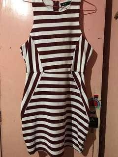 F21 Maroon Stripe Dress