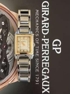 Girard Perregaux 18K Solid Gold & Stainless Steel GP Ladies watch
