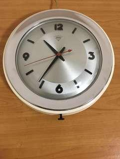 "12"" Diamond Brand Electric Wall Clock in Original Condition"