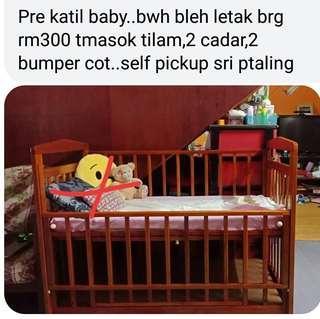 Katil kayu baby