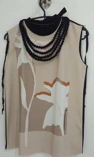 ZARA Sleevless Nude Top with Pattern