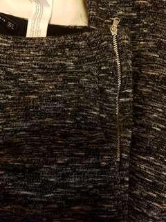 Zara women's grey zipper pants