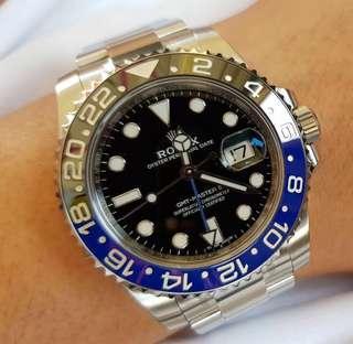"""(SOLD) LNIB Rolex GMT IIc 116710BLNR """"Batman"""" AN Series"""