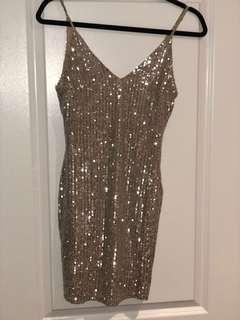 M Boutique Gold Sequin Dress