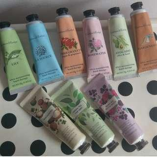 Crabtree & Evelyn, The Face Shop Hand Creams