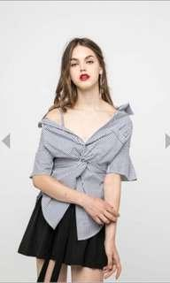 Osmose Knotted Off Shoulder TOP