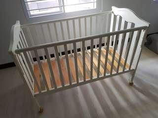 Preloved Wooden Baby Coat (Free preloved mattress)