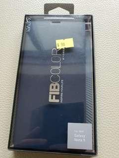 全新Note 9 電話皮套(深籃色)