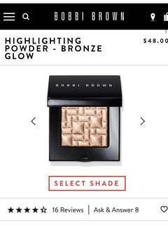 Bobbi Brown Highlighting Powder- Bronze Glow