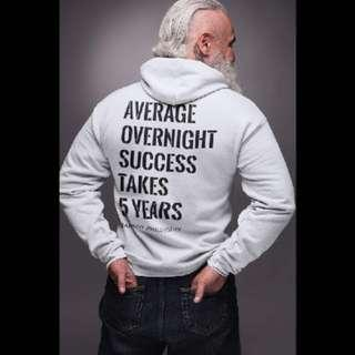 Average Overnight Success Hoodie For Man  | Entrepreneur Tee | Motivational | Inspirational Tee | Brand New | 100% Cotton |