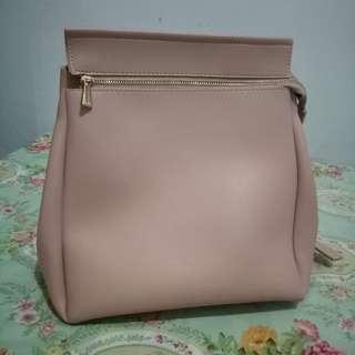 Tas Ransel Backpack Miniso Nude Pink