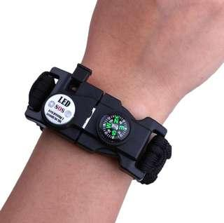 [ High Positive Rating ] Emergency Survival Paracord Tactical Bracelet With LED Lamp 187