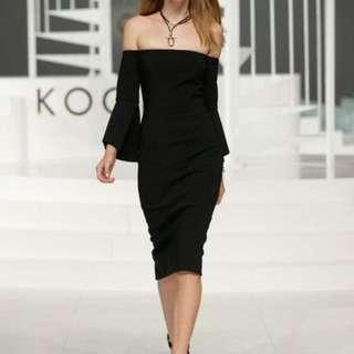 Kookai Florence black dress sz 38 ( havent worn but washed) (10)