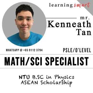 Math & Science Home tuition PSLE O level