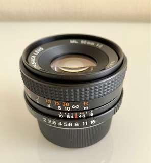 Yashica ML 50mm F2 legacy lens. Rm200 fix price.