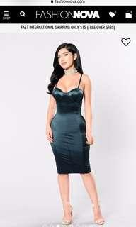 Fashion nova teal dress