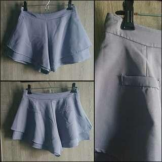 100%new grey skirt-pant 斯文返工OL灰色傘狀裙褲