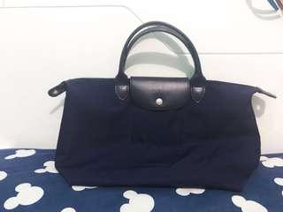 longchamp navy blue authentic