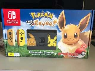 BRAND NEW LIMITED EDITION Pokemon Eevee Edition Nintendo Switch